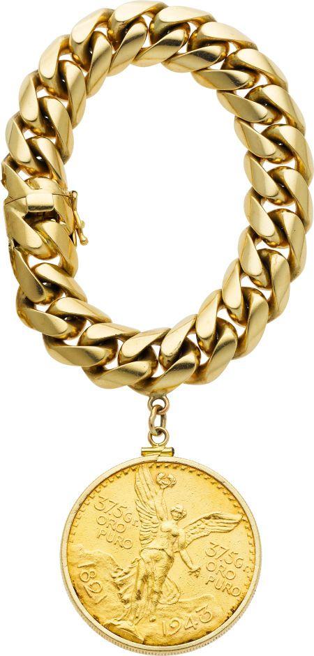 219d86bf0e5df0 Estate Jewelry:Bracelets, Gold Coin, Gold Bracelet. ... Image #1 ...