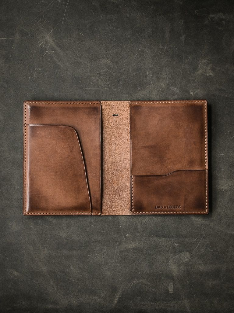 Magellan Russet Vintage Tan Leather Double Passport Wallet #leatherwallets