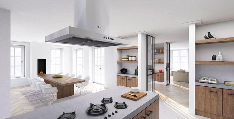 Modern landelijke keuken ontworpen door nomaa