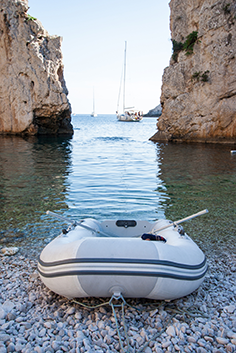 Visit hidden bays that only our sailing yachts can access ...