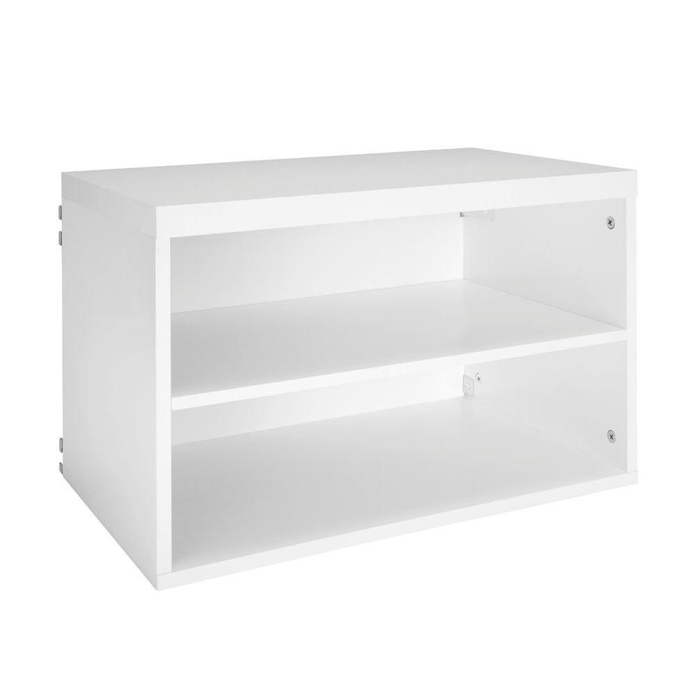 Closetmaid Elite 14 5 8 In 3 Shelf Organizer In White 33267 The Home Depot Shelves Shelf Organization Cube Shelves