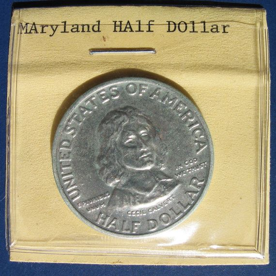 1934 Maryland 300th anniversary commemorative by paperandmetal, $185.00