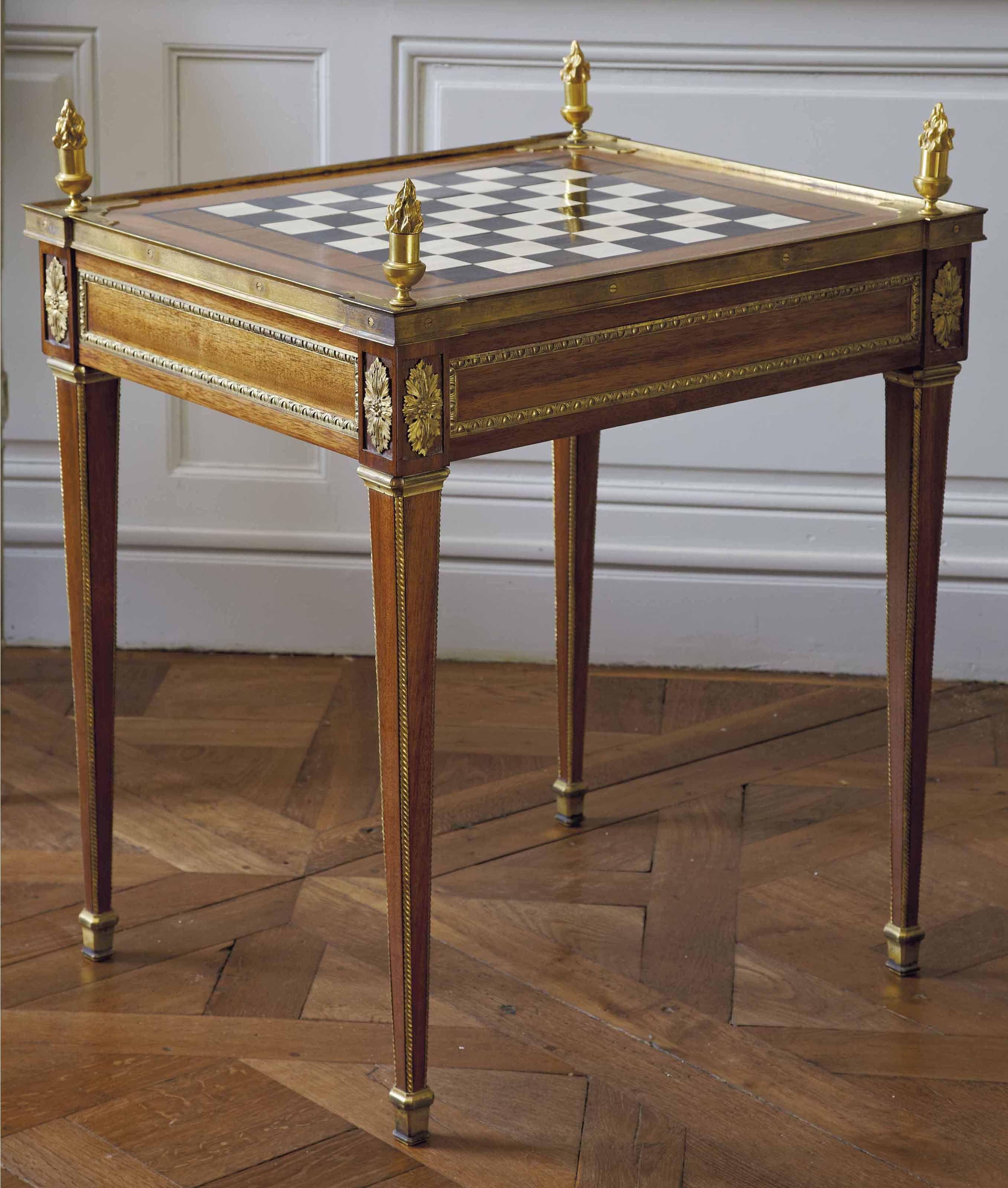 Date Unspecified Table A Jeux D Epoque Louis Xvi Estampille De Potarange Dernier Quart Du Xviiie Siecle Price Realised Eur 27 500 Mobel