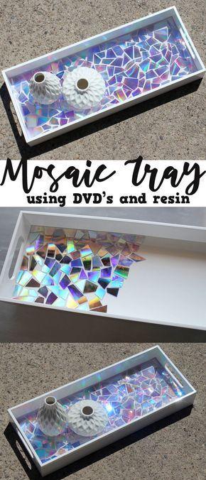 25 + › Dieses DVD-Mosaik-Hochglanz-Tablett gibt eine Aussage ab! #work
