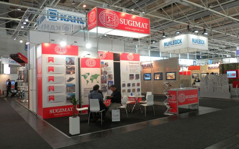 Exhibition Stand Builders Poland : Exhibition booth design for sugimat by radon exhibitions