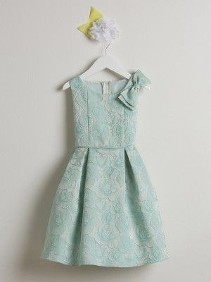 91f858a9ca3 Sea Foam Rose Print Flower Girl Dress (Available in Sizes Infant-12 in 2  Colors