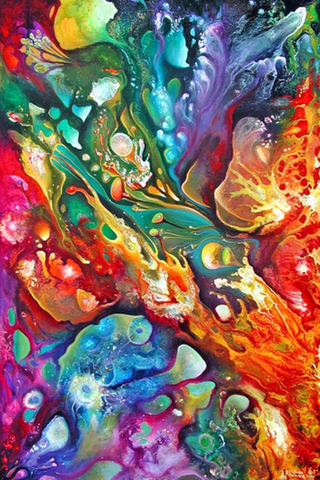 Pinturas de abstractos modernos decorativos cuadros for Imagenes de cuadros abstractos texturados