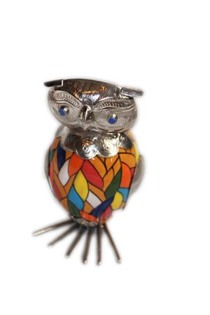 Hand Painted Owl- Handmade by fair trade artisan.