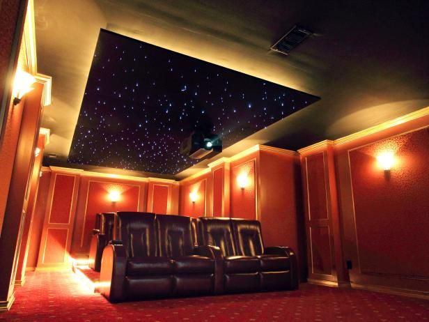 Hgtvremodels home theater planning guide offers tips on selecting the ideal lighting for your home
