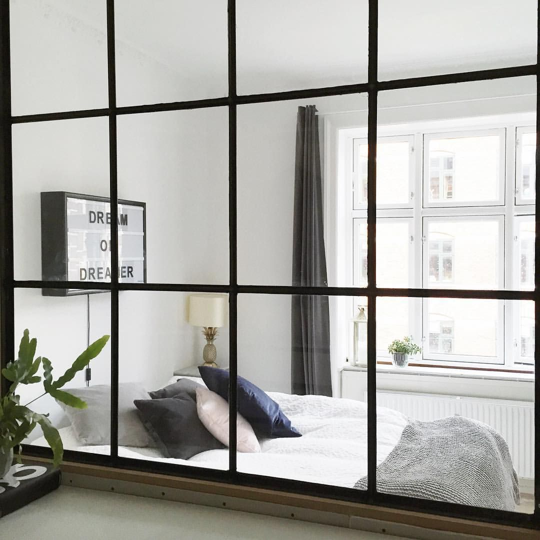 """Christina Dueholm på Instagram: """"Wouldn't mind staying in this bed all day  #myhome #windowwall #copenhagen"""""""
