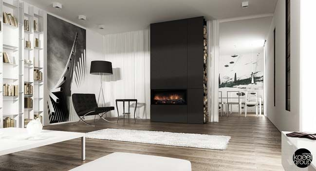 Black And White Minimalist House In Poland Home Decor Pinterest