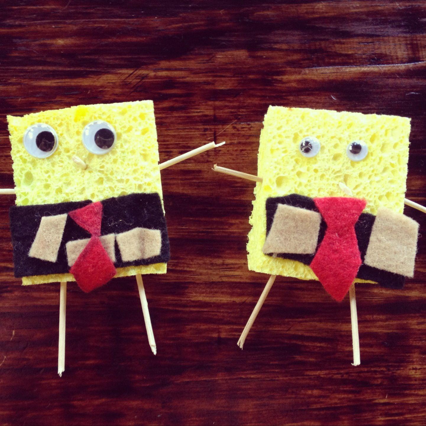 Make Your Own Spongebob Sponge With Felt Toothpicks Googly Eyes