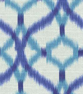 $29.99 Home Decor Print Fabric  Waverly Izmir Ikat/Aegean : Home Decor  Fabric :