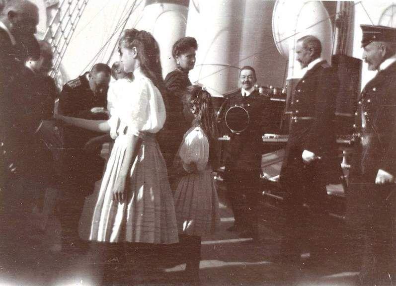 Alexandra with Olga and Anastasia.