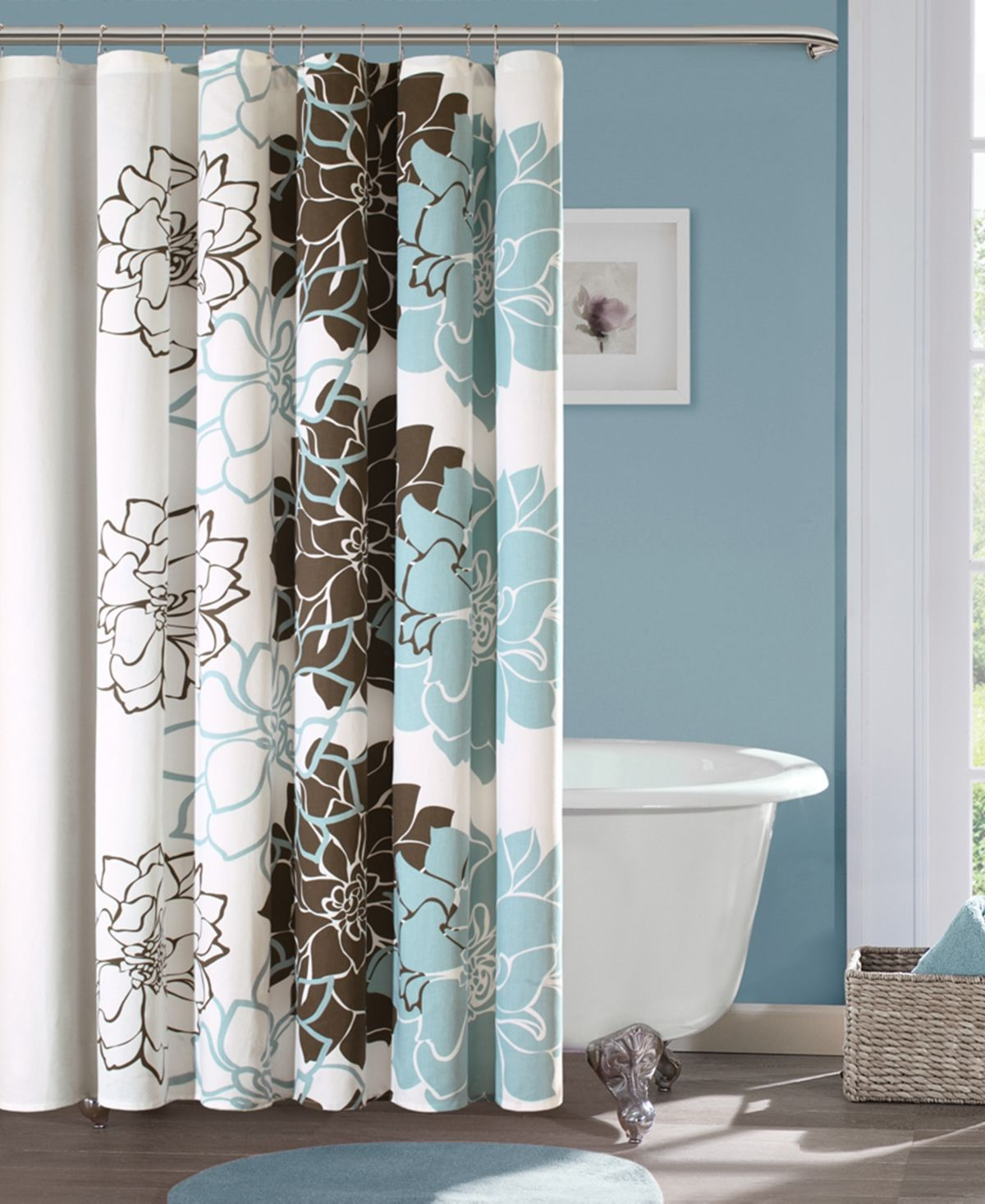 Madison Park Lola 72 X 72 100 Cotton Floral Printed Shower