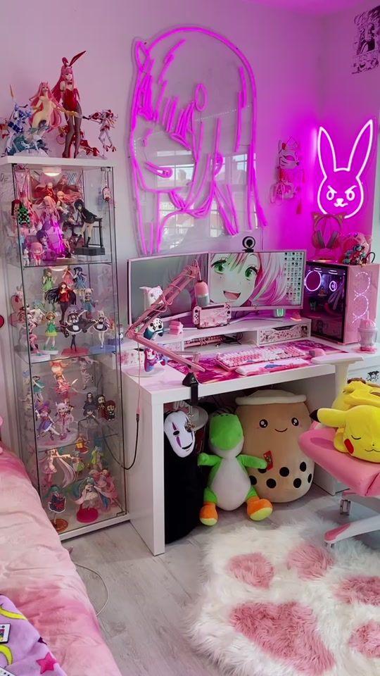 Watch Trending Videos For You Tiktok In 2021 Game Room Design Kawaii Room Gamer Room Decor