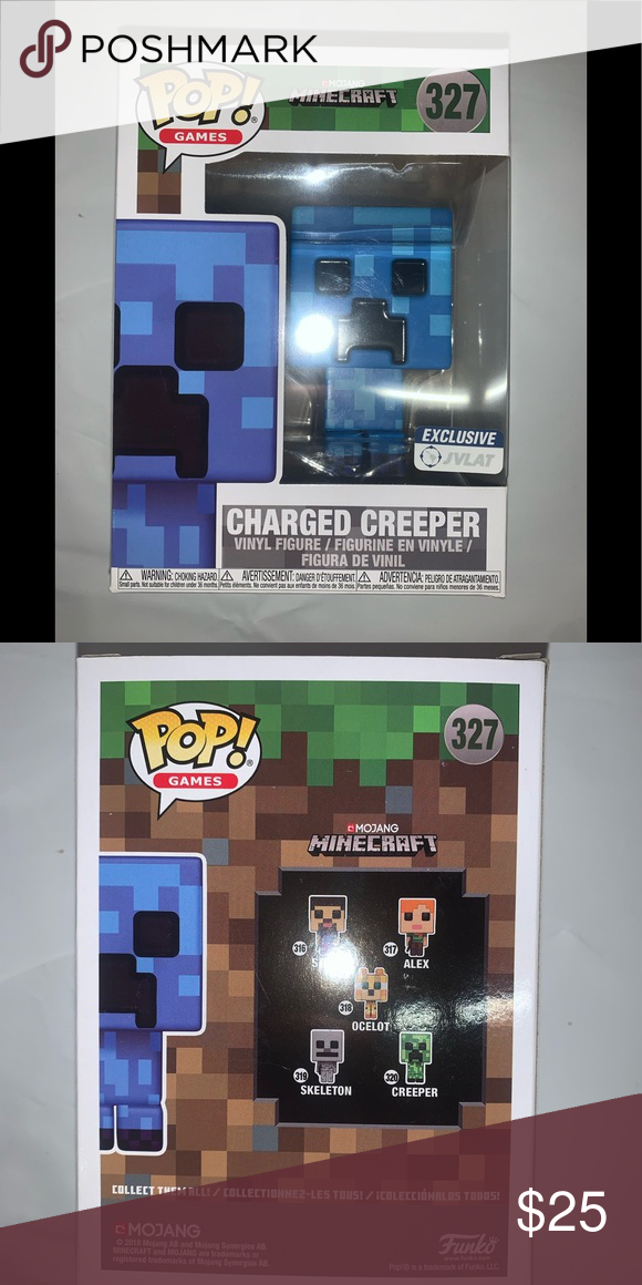 "Funko POP! ""CHARGED CREEPER"" MINECRAFT Excellent condition"