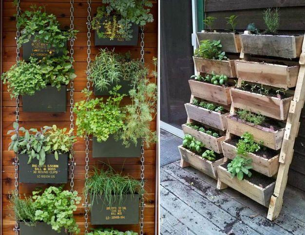 resultado de imagen de ideas para huertos en paredes de terraza - Huertos En Terrazas