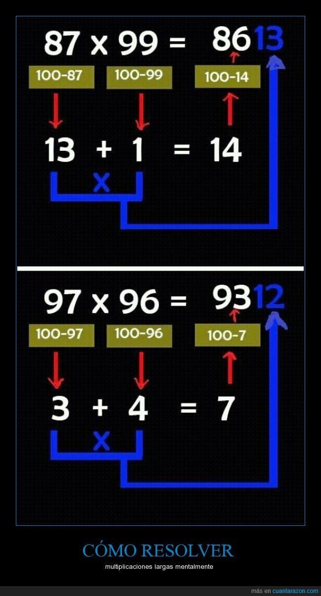 CÓMO RESOLVER - multiplicaciones largas mentalmente