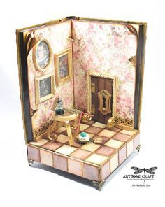 Prima Tales of You and Me Altered Book Box. Alice in wonderland miniature scene. This so amazing there is a video of the Entire project Start to finish.