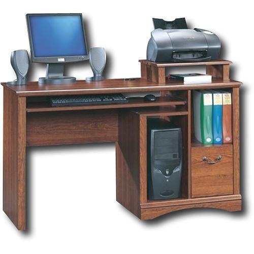 Sauder - Camden County Computer Desk - Cherry - angleView