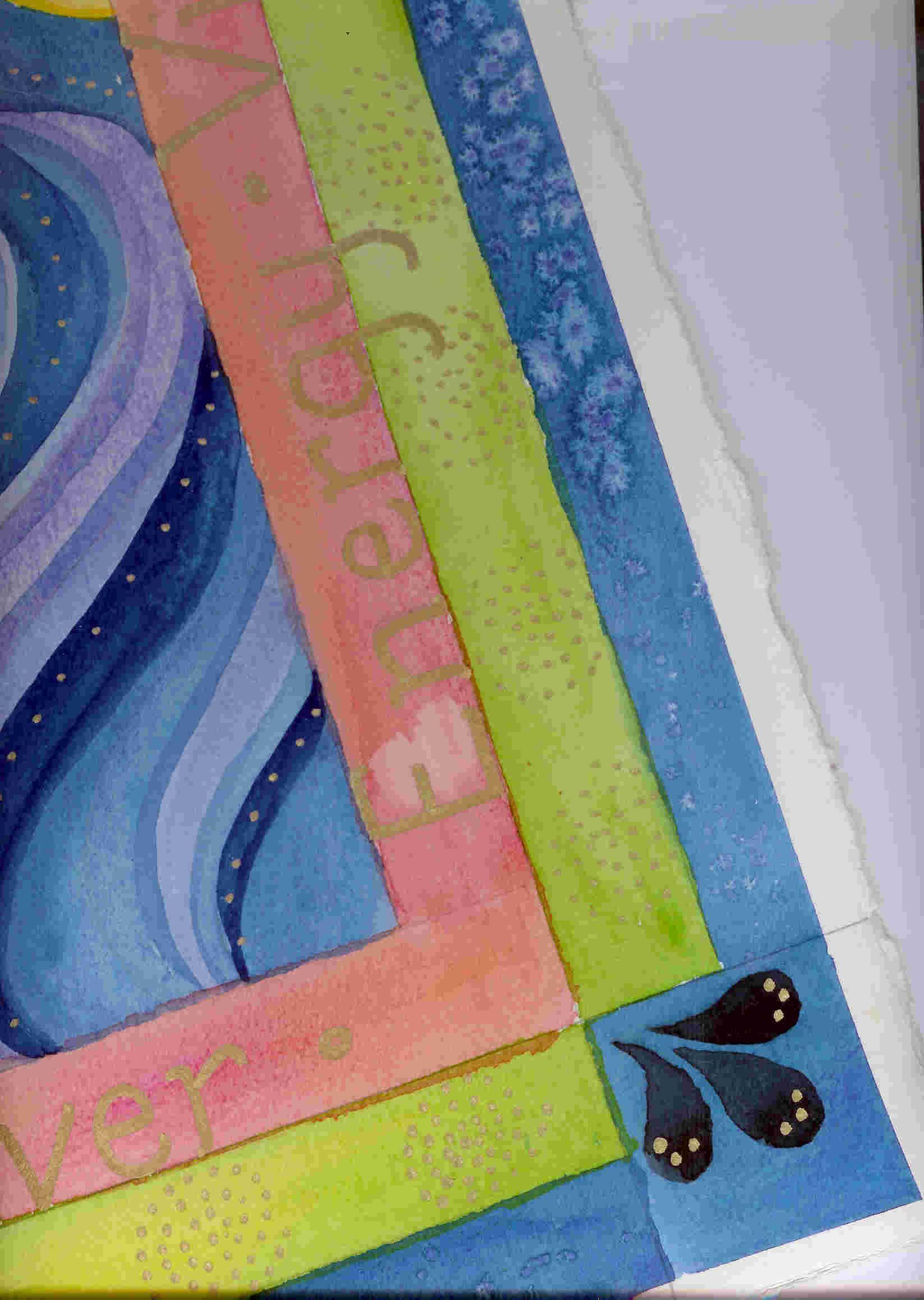 Bit of watercolor by Cathy Pfeil