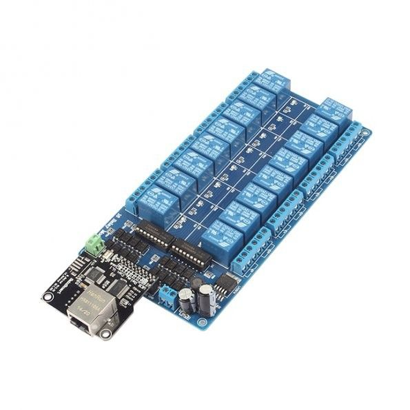 RJ45 Ethernet Control Board for 8/16-Ch Relays | Robot