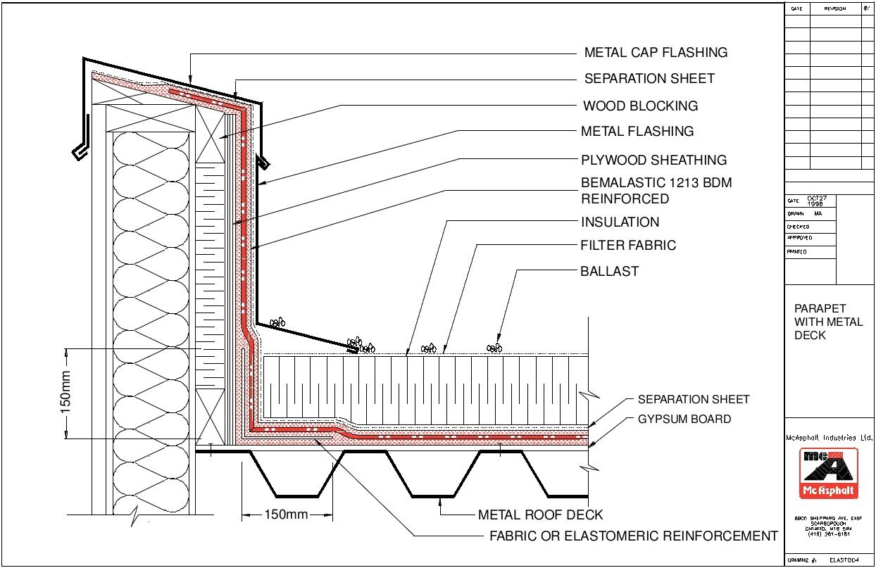 Image result for waterproof parapet wall | architecture