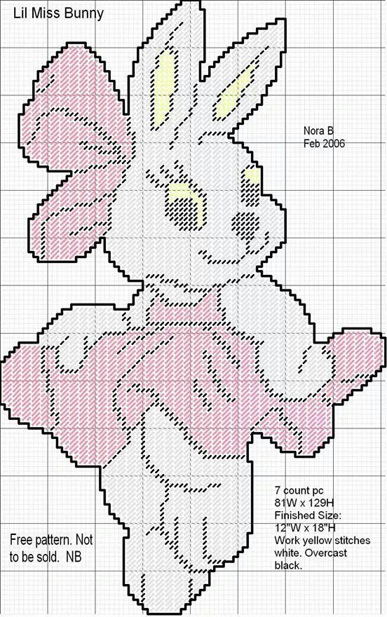 Easter bunny girl   CLARA E   Pinterest   Conejo, Plástica y Punto ...