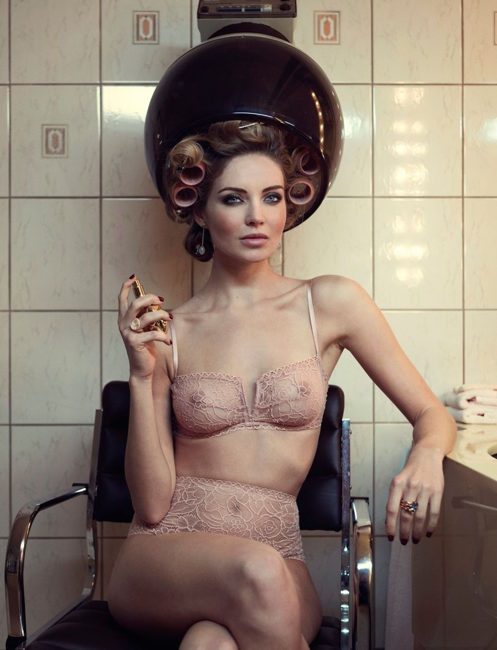 Mélissa Gateau Fashion Model Sexy Lingerie in Eres Campaign 2015 Photoshoots b8c3f4deb