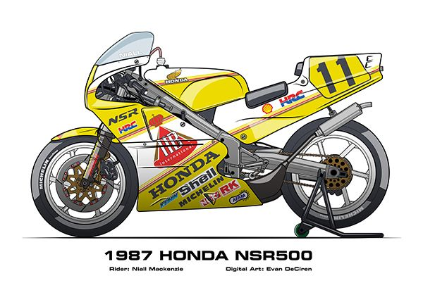 MotoART - Honda NSR250 1985 - 2009 on Behance