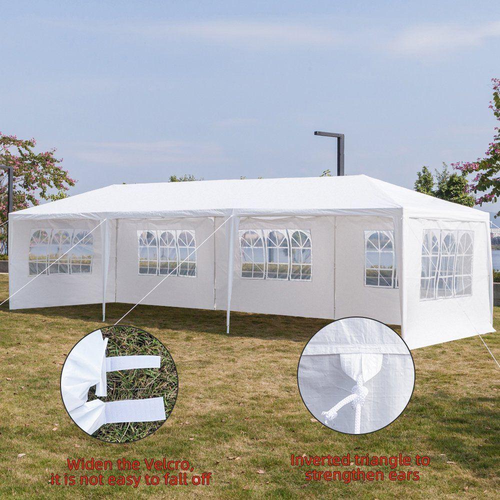 Ktaxon 10 X 30 Party Tent Wedding Canopy Gazebo Wedding Tent Pavilion W 5 Side Walls Walmart Com Party Tent Party Tent Wedding Wedding Canopy