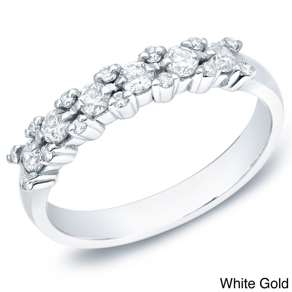 Miadora signature collection 14k white gold 1ct tdw diamond double row - Auriya 14k White Yellow Or Rose Gold 1 2ct Tdw Diamond Ring H I