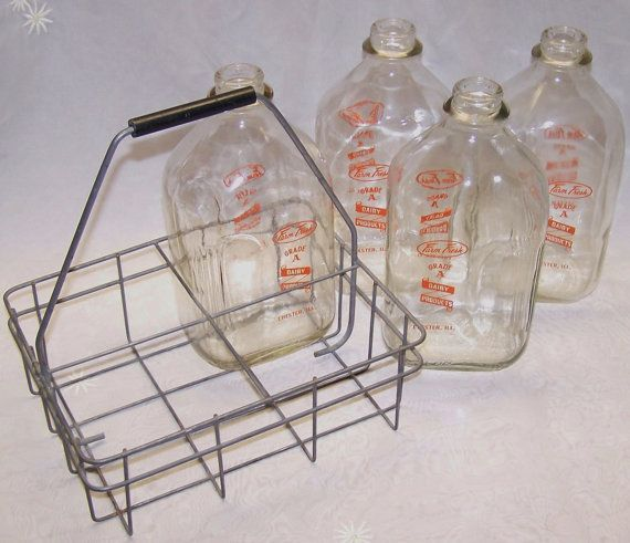 Vintage Farm Fresh Chester Il 1 2 Gallon Milk Bottles And Etsy Farm Fresh Milk Vintage Farm Milk Bottle