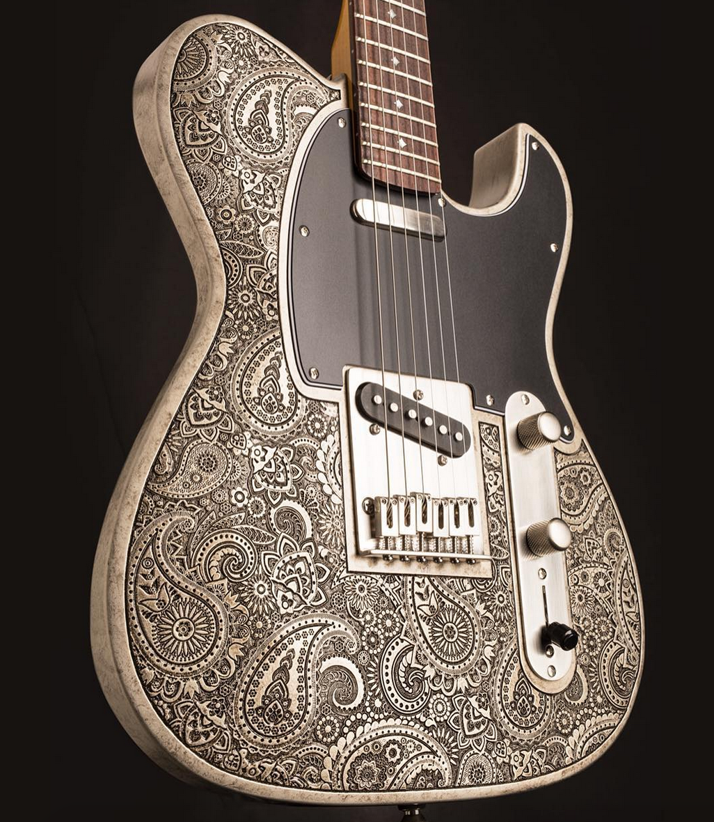 Dean Zelinsky Dellatera Paisley Engraved Guitars Amps