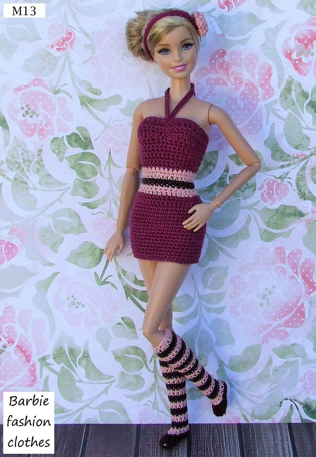 M13 Rivista Uncinetto Bambole Bo 1 Vestiti Per Barbie Barbie E