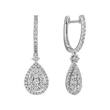 Dangle Diamond Cer Earrings