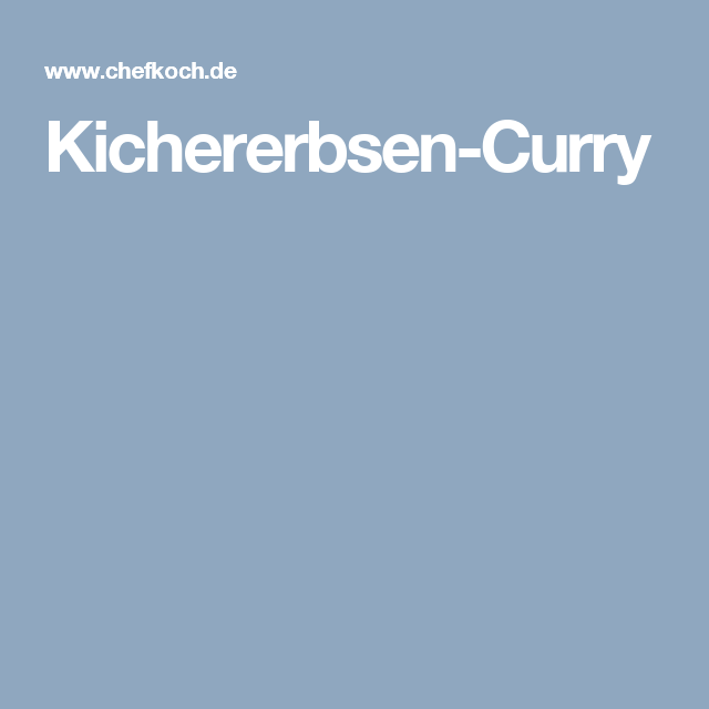 Kichererbsen-Curry