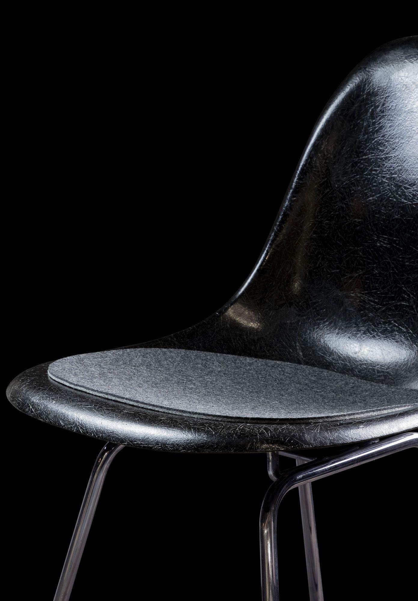 Seatpad For Eames Chair Black Eames Chair Seatpad Sitzauflage Schwarz Sitzauflagen Eames Stuhlauflagen
