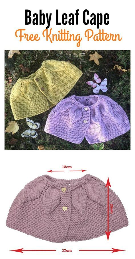 Baby Leaf Cape Free Knitting Pattern Knitting Patterns Cape And