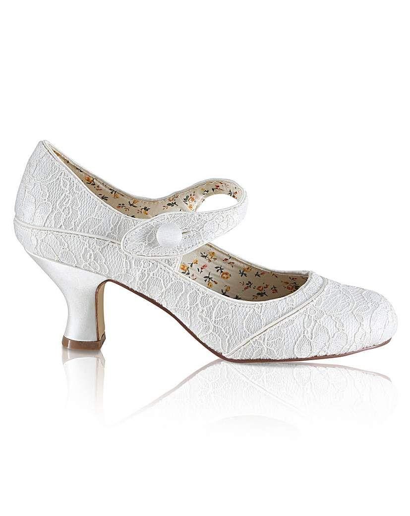 Perfect Esta Wide Fit Lace Bar Shoe Boho Wedding Shoes Wedding