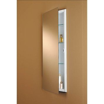 Slim And Tall Medicine Cabinet 15 X 36 Without A Glass Back Recessed Medicine Cabinet Recessed Cabinet Contemporary Medicine Cabinets