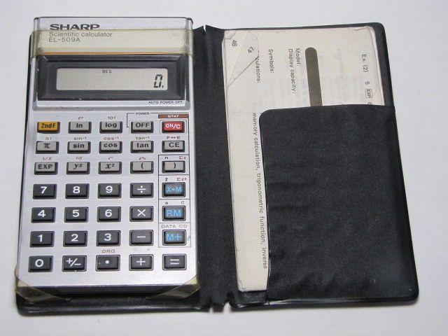 Sharp Scientific Pocket Calculator Model El A With Case And