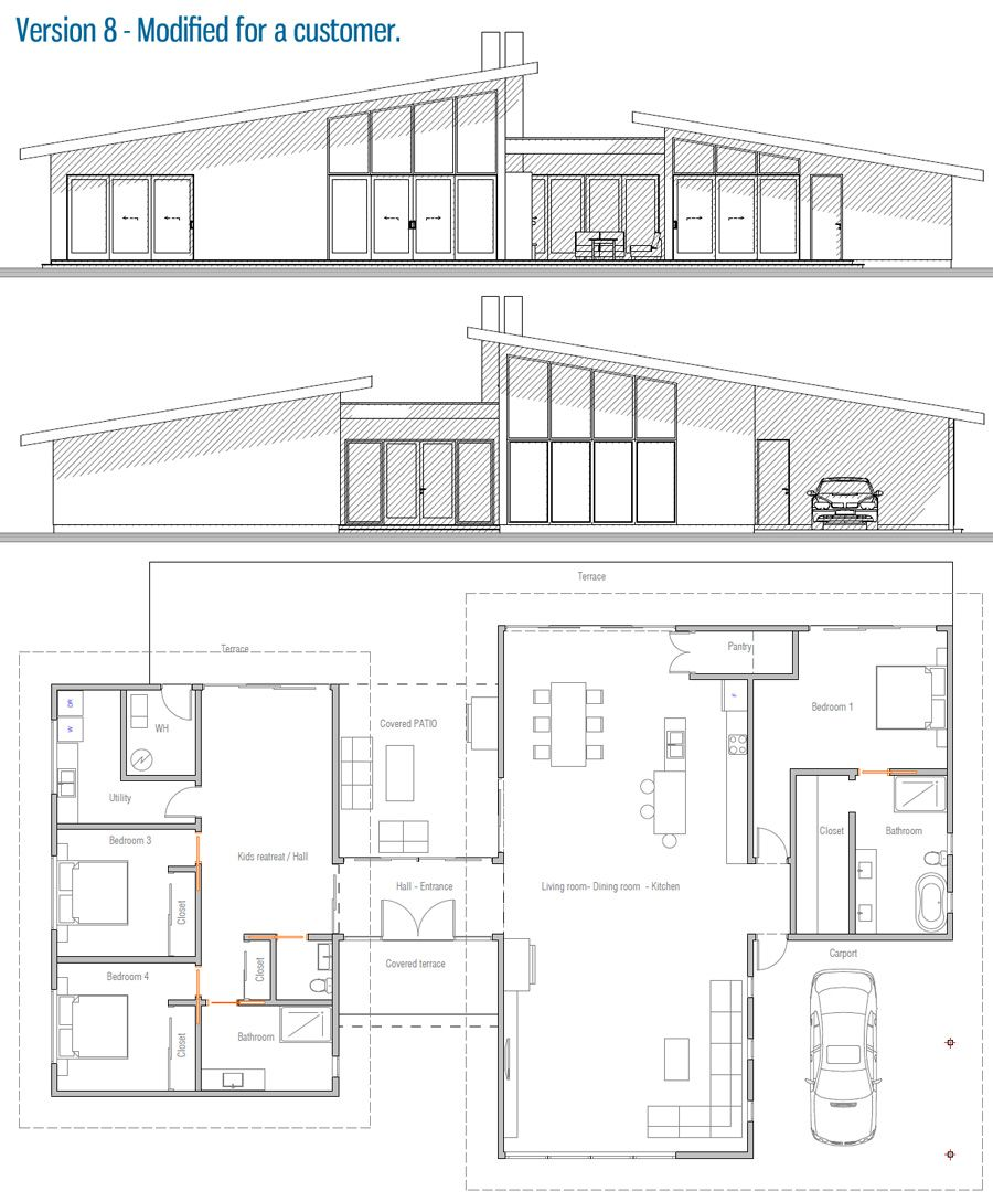 House Design Modern House Ch286 52 Home Design Floor Plans House Floor Plans Modern Small House Design