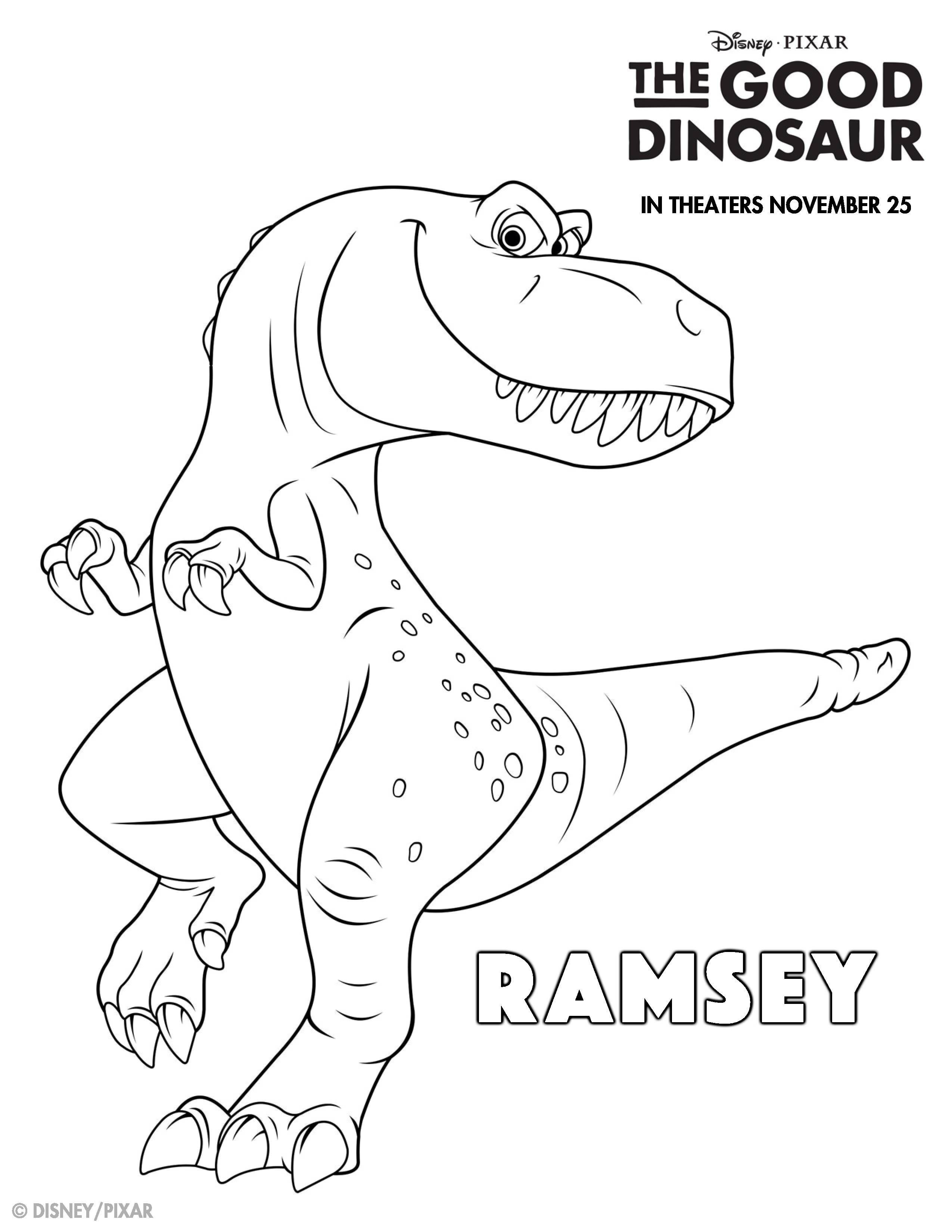 Quatang Gallery- The Good Dinosaur Kleurplaten Ramsey Kleurplaten Dieren Kleurplaten Kinderkleurplaten
