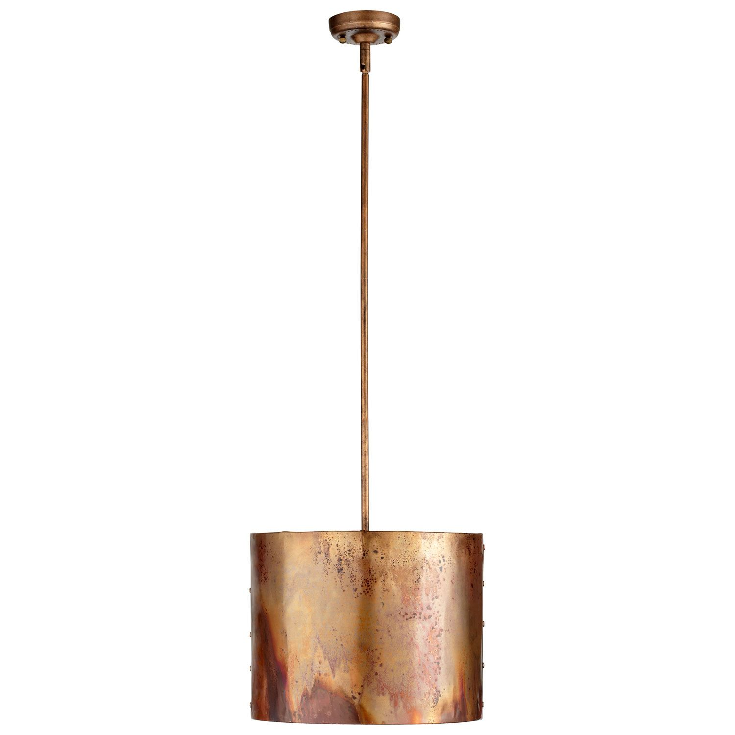 pendant design with island one drum ceiling mauviel black light cyan but cylinder copper over rods pin