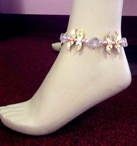 Breast Cancer Awareness Angel Wing Crystal by bellelaroseboutique
