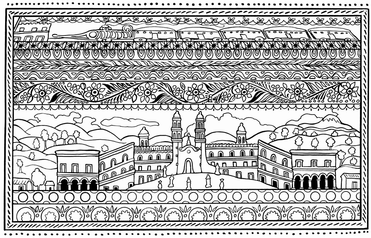 Coloring Book In Spanish Lovely Architecture And Living Coloring Pages For Adults Coloring Spanish Archit Cat Coloring Book Puppy Coloring Pages Coloring Pages