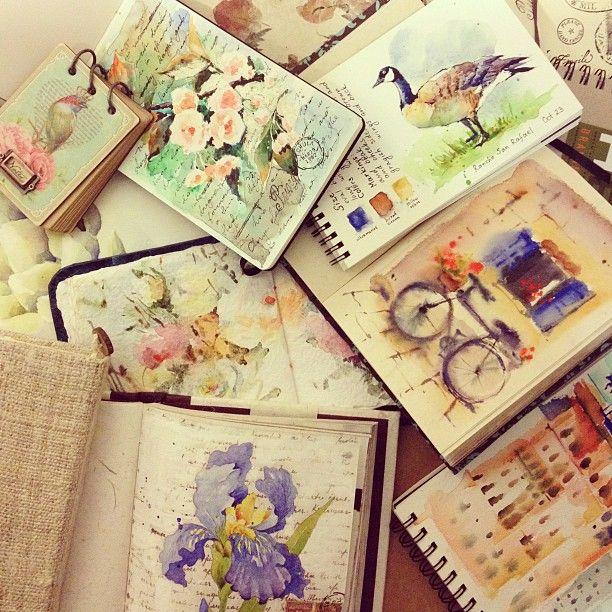 Art journal sketchbook watercolor Maria Canavello Mrasek Canavello Mrasek Canavello Mrasek Canavello Mrasek Stezhko Instagram