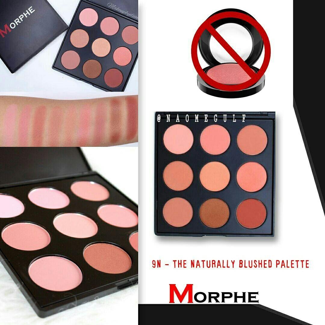 باليت بلاشر من مورفي ا 9bz That Glow Bronzer Palette تاخذ درجات البرونز ا 9n Naturally Blushed Palette التدرجات الطبيعيه من الرو Morphe Eyeshadow Beauty